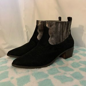 Band of gypsies borderline suede-metallic boot 10